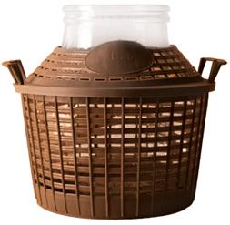 5 liter weithals ballon mit korb nahrungsmittel selbermachen. Black Bedroom Furniture Sets. Home Design Ideas